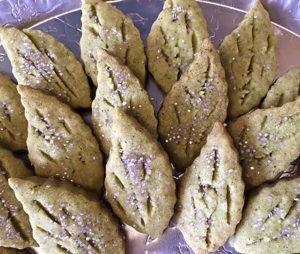 Organic Green Tea Shortbread Cookies