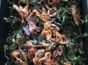Organic Kale Sauté – Crispy Shallots