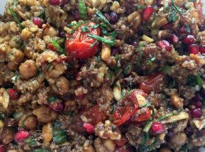 Organic Quinoa Salad with Pomegranate Atelier Christine