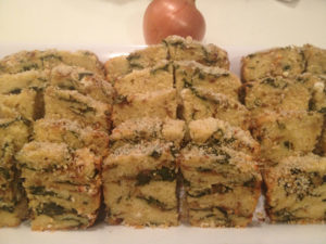 Organic Caramelized Onion and Spinach Quickbread
