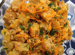 Organic Golden Beet and Walnut Salad