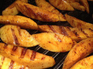 Grilled Organic Mango With Chili and Lime