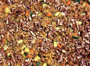 Organic Spiced Red Quinoa With Organic Carrots and Pecans