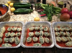 Organic Spinach and Ricotta Stuffed Pasta Shells