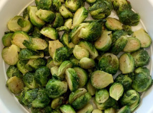 Organic Brussel Sprouts Roasted With Garlic and Sea Salt