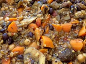 Organic Vegetarian Chili With Barley and Quinoa