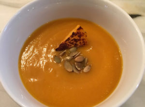 Chipotle Spiced Butternut Squash Soup with Pepitas