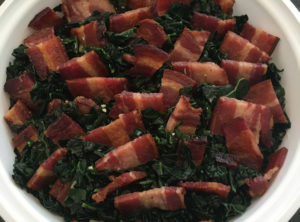 Organic Garlicky Kale and Bacon