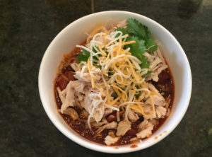 Organic Pulled Chicken Chili