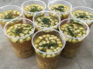 Summer Grilled Chicken Vegetable Soup
