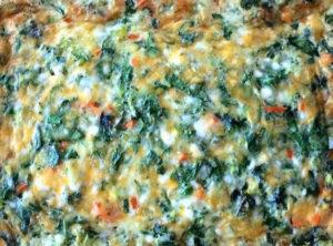 Organic Crustless Spinach and Three Cheese Quiche