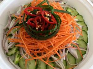 Thai Organic Cucumber Salad – Rice Wine Vinaigrette