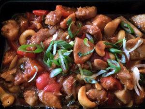 Paleo GF Organic Cashew Chicken – Roasted Cauliflower Rice