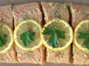 Lemon Garlic-Dijon Wild Caught Salmon