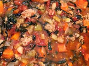 Tuscan Stew with Organic Sausage and Kale