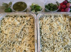 Enchiladas Verdes with Garnishes