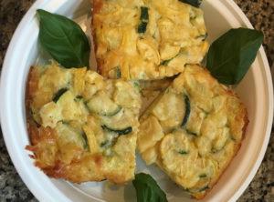 Organic Gluten Free Zucchini Summer Squash and Feta Crustless Quiche