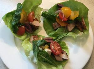 Organic Greek Chicken Lettuce Wraps