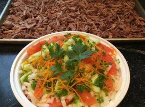 Pastured Pork Carnitas Crunchy Fresh Jicama Cara Cara Orange Cucumber Salad