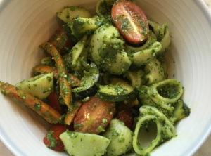 Organic Basil Arugula Pesto Pasta Primavera